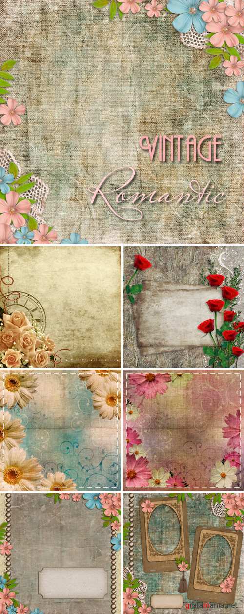 Stock Photo - Vintage Romantic Backgrounds 2