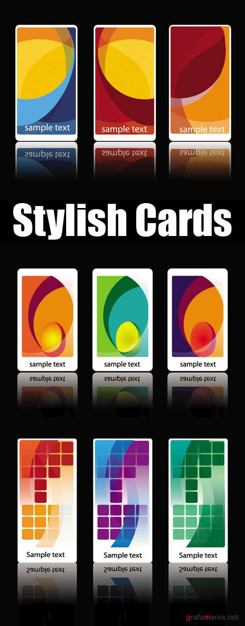 Stylish Cards Vector
