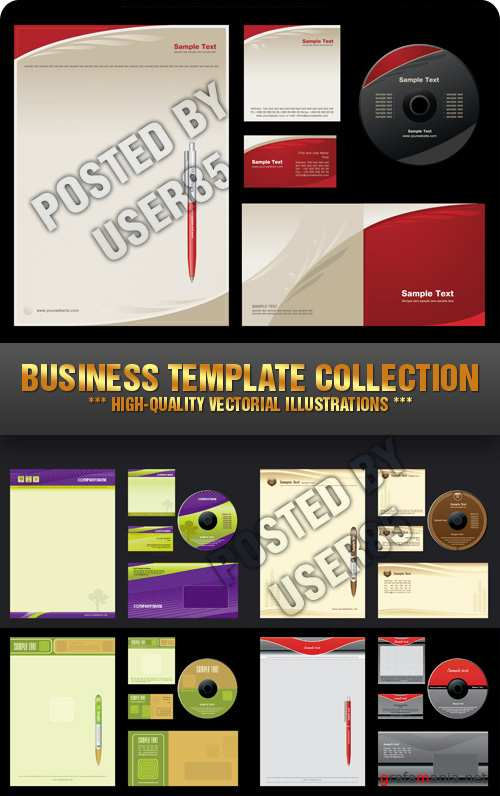 Stock Vector - Business Template Collection