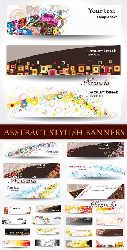 ������� ������. Abstract Stylish Banners - Stock Vectors