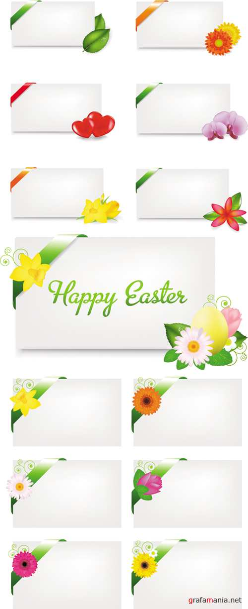 Blank Easter Gift Cards Vector