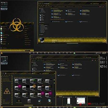 Hazardous Glass Theme for Windows 7