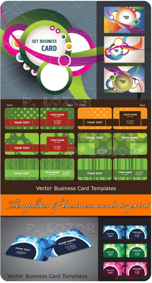 Templates of business cards to print