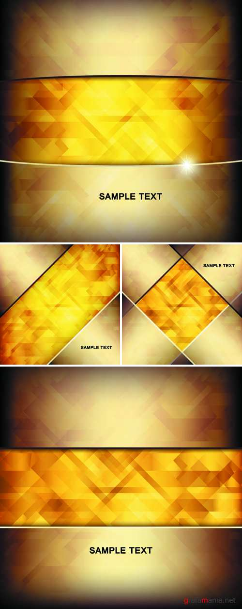 Abstract Golden Backgrounds Vector