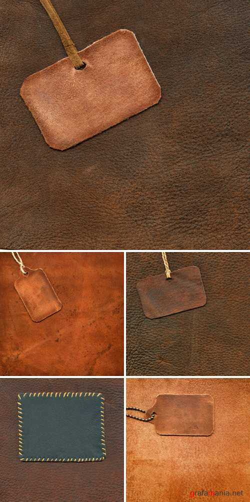 Stock Photo - Leather Backgrounds with Tags