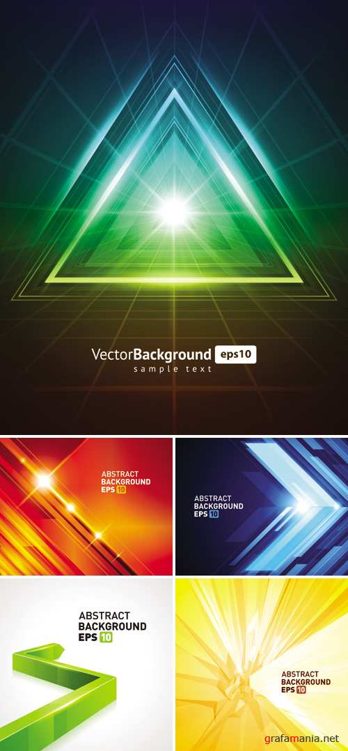 3D Abstract Backgrounds Vector