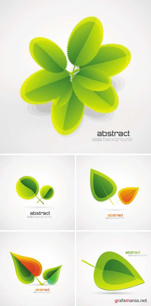 Abstract Green Leaves Vector