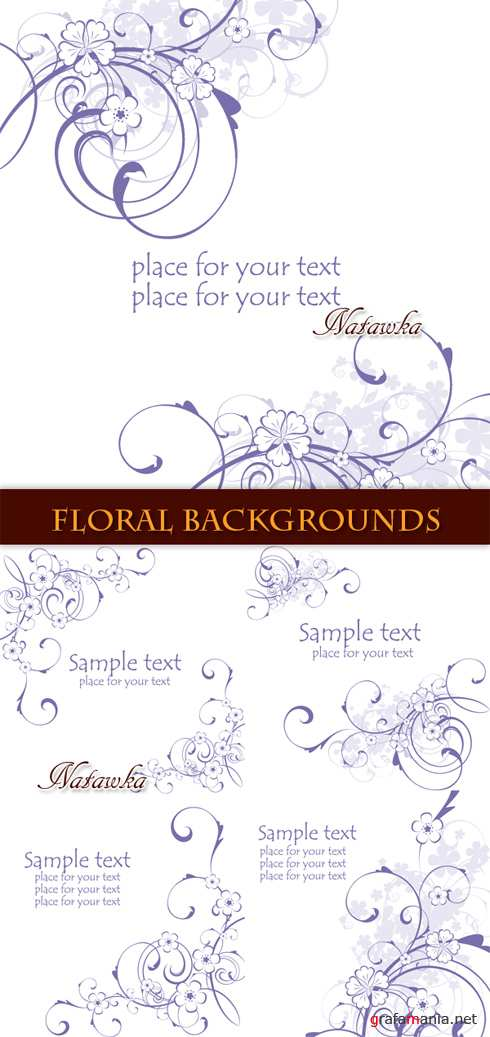 ������������ �����. Floral Backgrounds - Stock Vectors