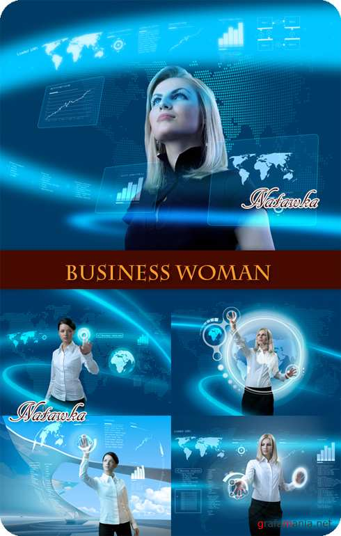 Business Woman in Futuristic Interface - Stock Photos part 2