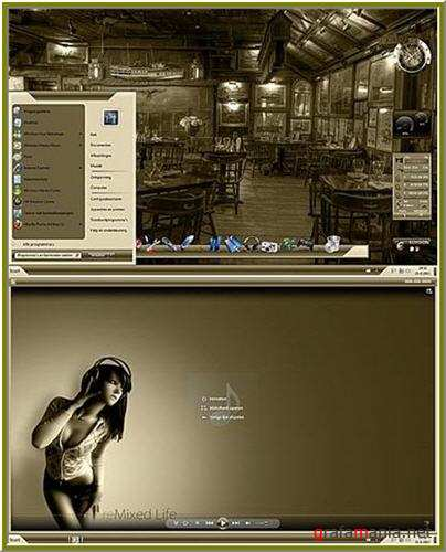 Old Fashion Style Theme for Windows 7