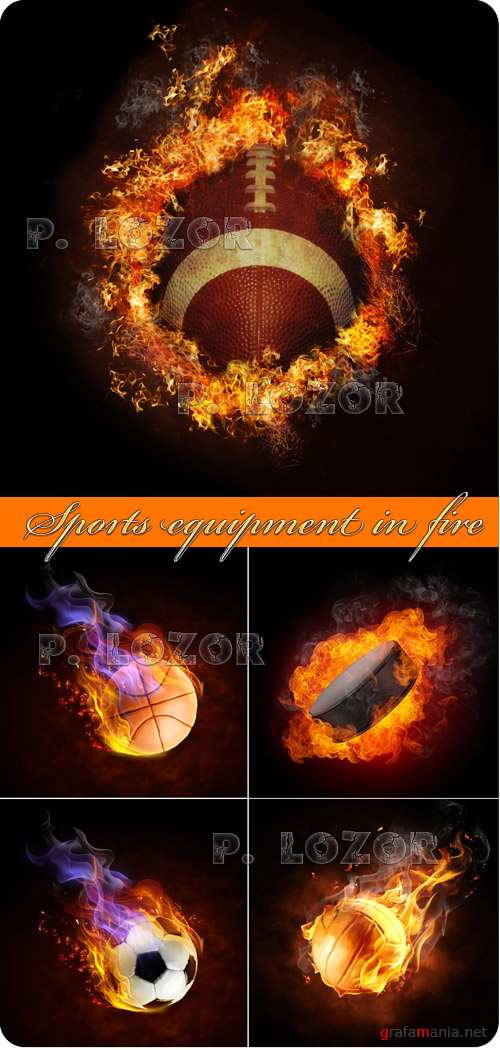 Sports equipment in fire