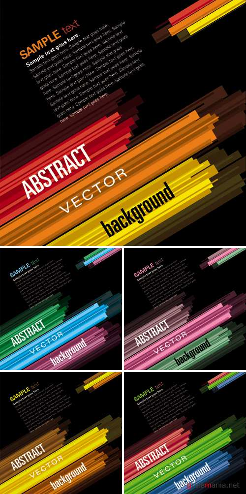 Abstract Lines Backgrounds Vector 2
