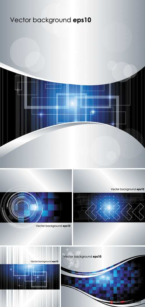 Abstract Techno Backgrounds Vector
