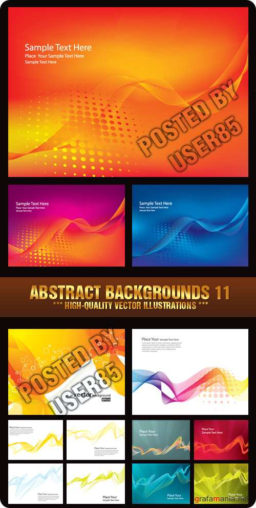 Stock Vector - Abstract Backgrounds 11