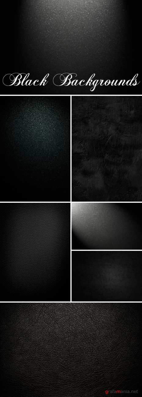 Stock Photo - Black Backgrounds | Черные фоны
