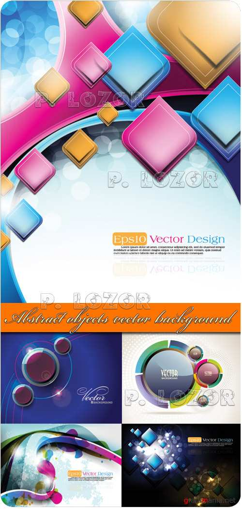 Abstract objects - vector background