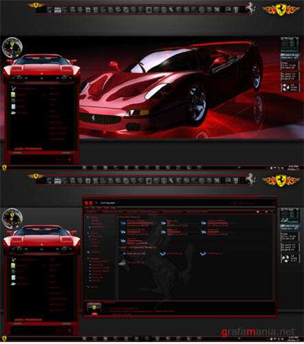 Ferrari Glass Theme for Windows 7