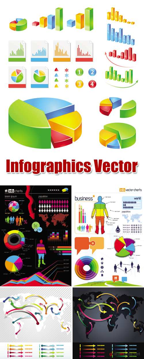 Infographics & Infocharts Vector | Инфографика в векторе