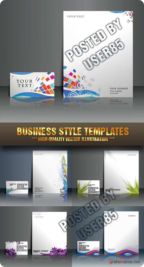 Stock Vector - Business Style Templates