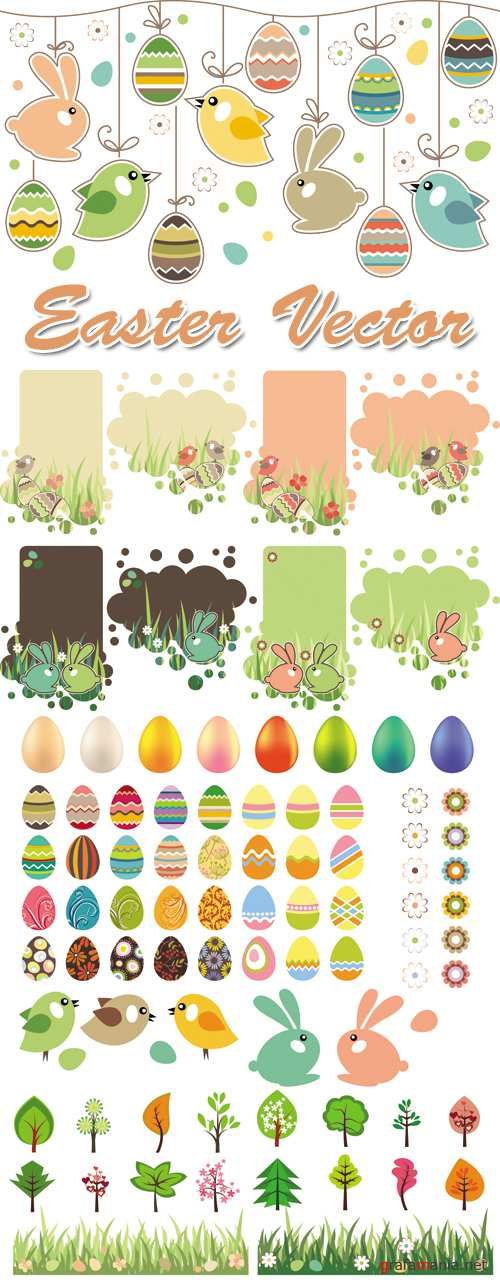 Funny Easter Vector