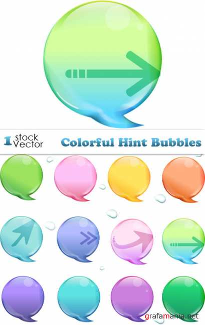 Colorful Hint Bubbles Vector