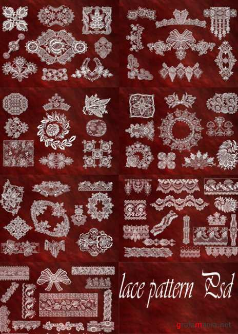 lace pattern Psd