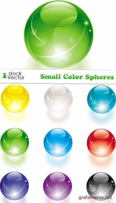 Small Color Spheres Vector