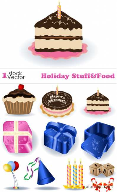 Holiday Stuff&Food Vector