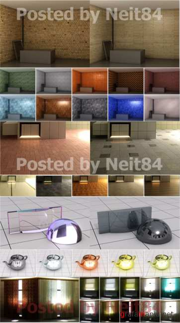 Mental Ray materials for 3d max