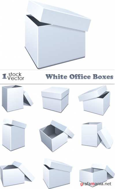 White Office Box Vector