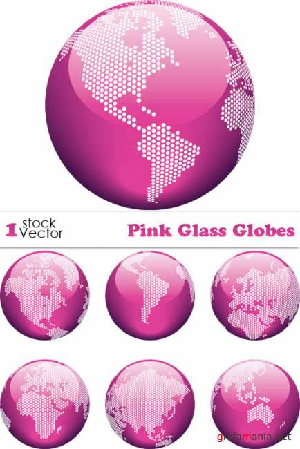 Pink Glass Globes Vector
