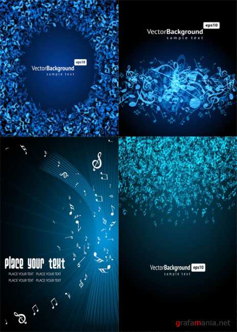 Musical vector backgrounds
