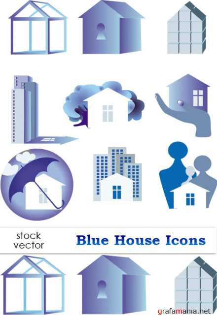 ��������� ������� - Blue House Icons