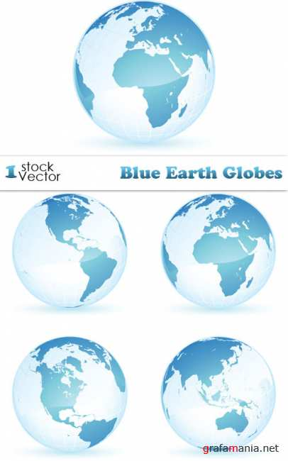 Blue Earth Globes Vector