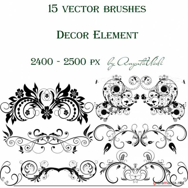 Decor Element vector brushes