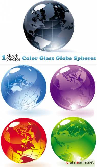 Color Glass Globe Spheres Vector