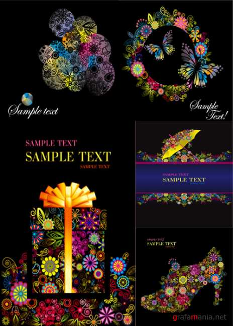 Color abstract floral