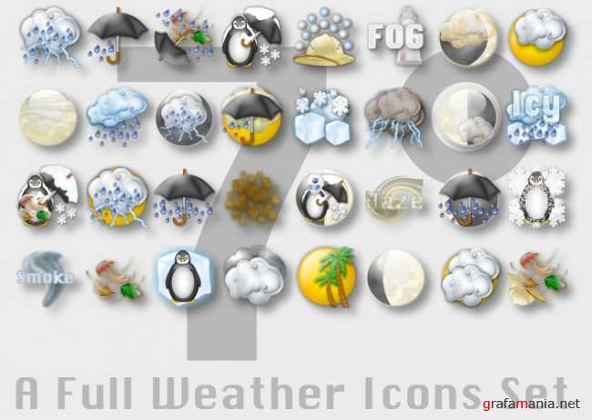 7 degrees Weather Iconset
