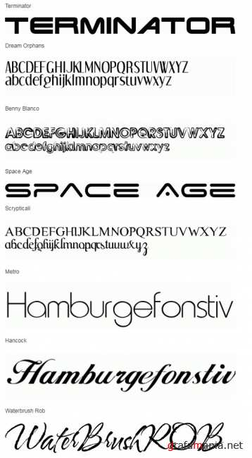 29 Great Popular Free Fonts