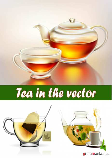 Tea in the vector