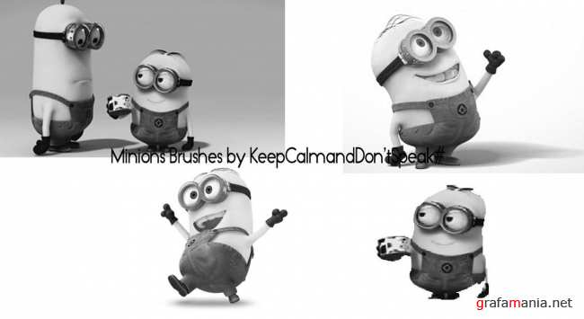 ����� ������� (�� �/� ������ �) / Minions (from Desplicate Me) Photoshop Brushes