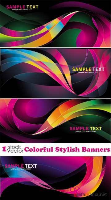 Colorful Stylish Banners Vector