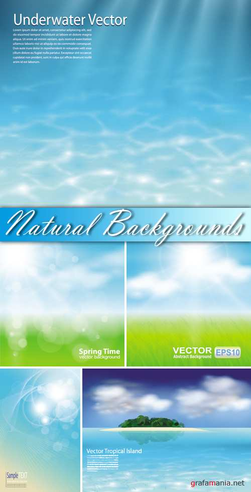 Natural Backgrounds Vector 2