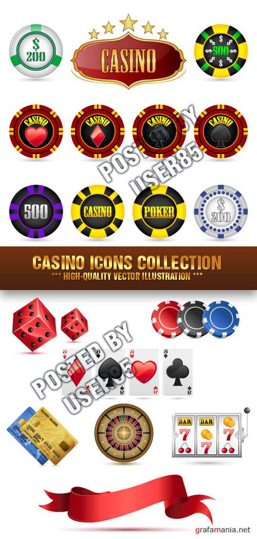 Stock Vector - Casino Icons Collection
