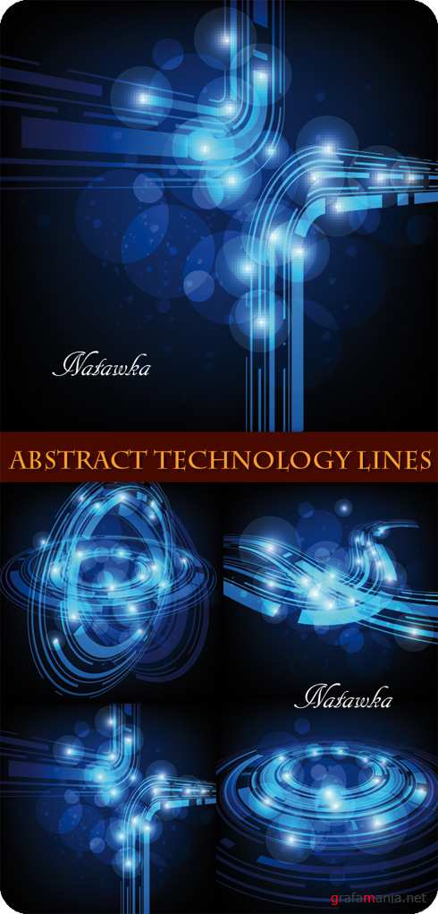 Abstract Technology Lines