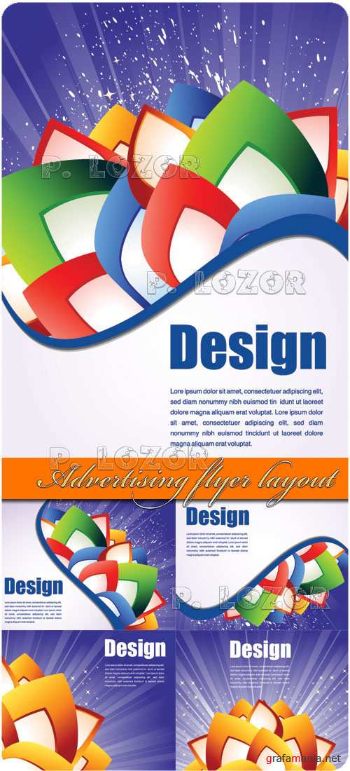 Advertising flyer layout