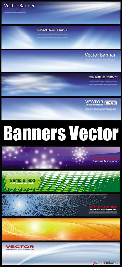 Abstract Glossy Banners Vector 2
