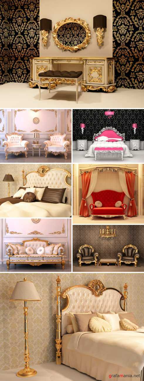 Stock Photo - 3D Luxury Interior