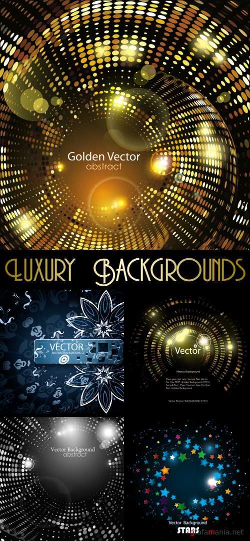 Luxury Abstract Backgrounds Vector