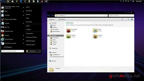 Honeycomb Theme for Windows 7